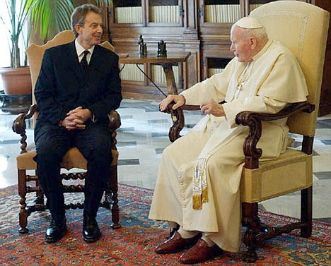 Two unmovable forces - the Pope's doctrine and Tony Blair's ego