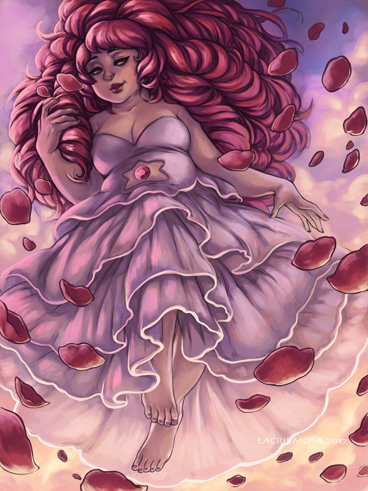 Rose Quartz! I started on this months ago, and only got around to finishing it now… orz
