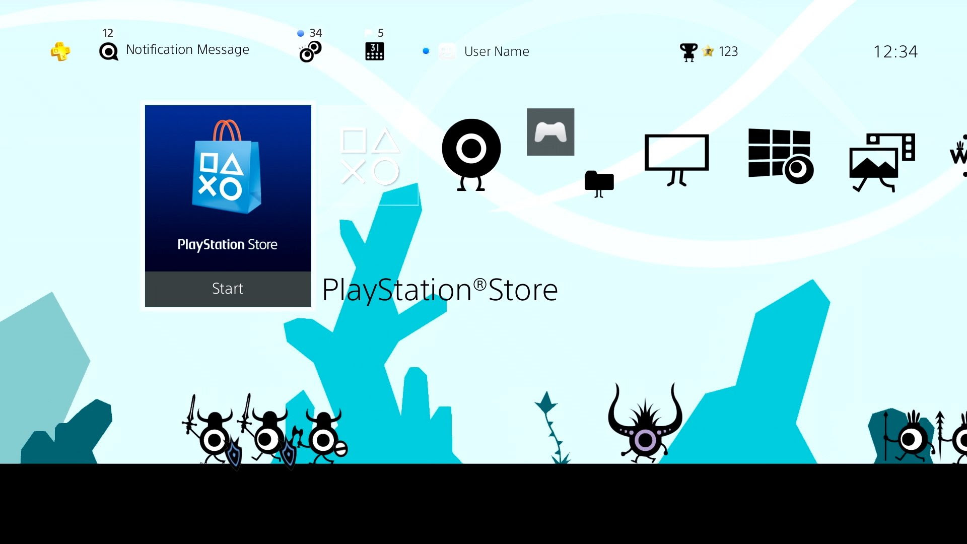 You should totally nab this free Patapon PS4 theme screenshot