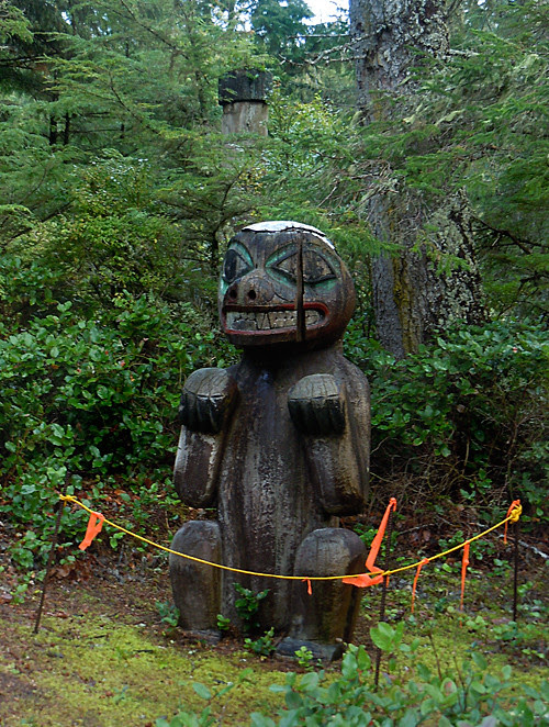 bear memorial totem, Kasaan Totem Historic District, Kasaan, Alaska