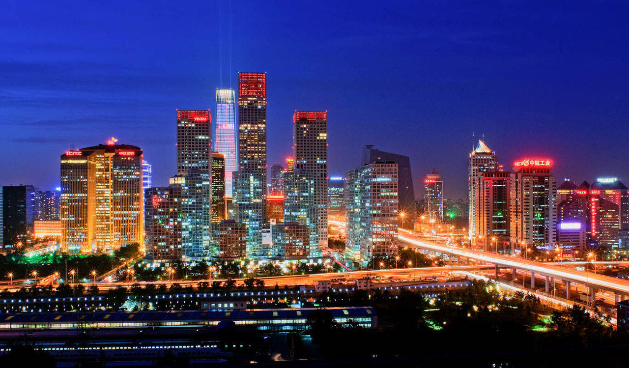 Pemandangan Kota Hongkong Di Malam Hari Pemandanganoce