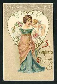 Valentine postcard, circa 1900-1910