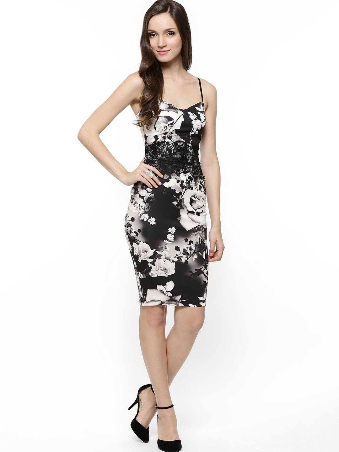 Black floral bodycon dresses shopping websites history
