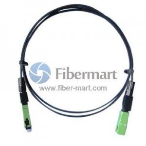 SM 9/125 Duplex Fiber Patch Cable FTTH Drop Cable FRP G652D PVC