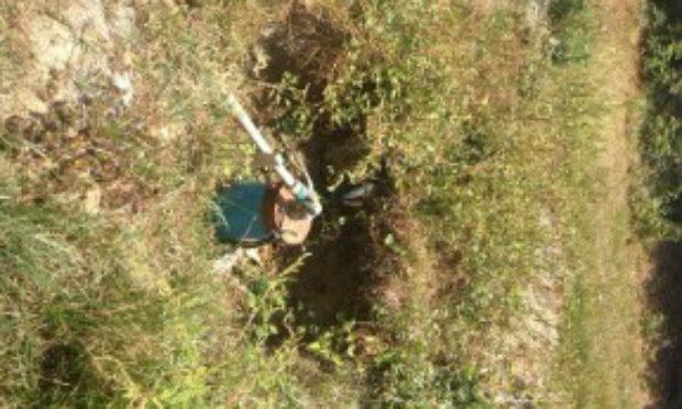 Cerca de 4 mil litros de água são retirados por hora de poço / Foto: Divulgação.