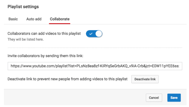 How to collaborate on a YouTube playlist