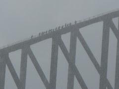 the Bridge walk in a storm