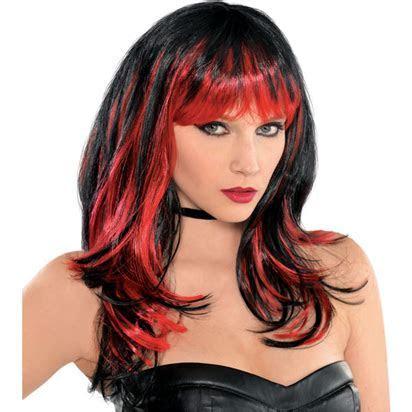 Wig Enchantress Wig   Women s Black & Red Halloween Wig