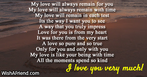 My Love Will Always Remain For You True Love Poem