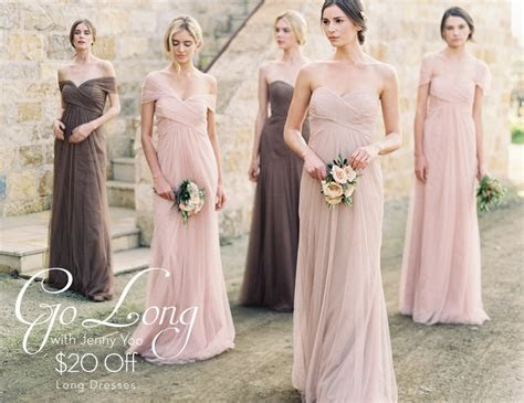 March Promo {Go Long With Jenny Yoo ? $20 Off Long Dresses