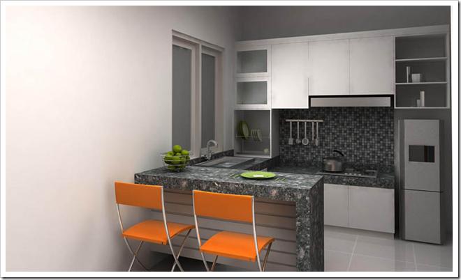 Desain  Dapur  dan  Ruang  Makan  Terbuka 13 Desain  Rumah