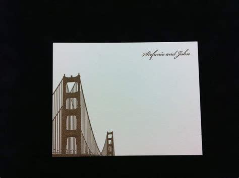 San Francisco Themed Golden Gate Bridge Invitations and