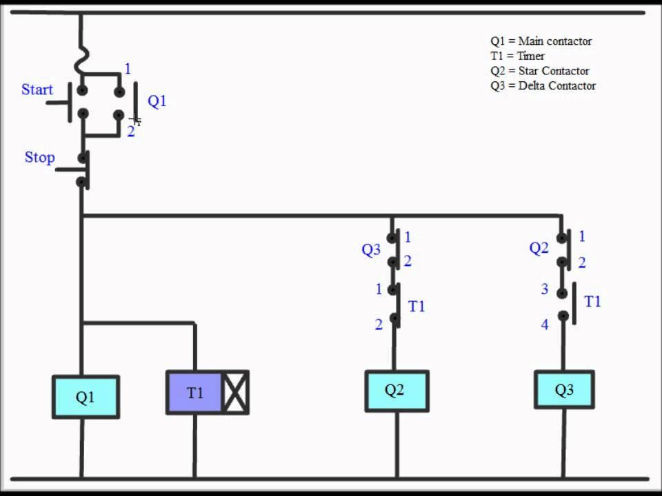 Wiring Diagram Of Star Delta Starter, Bch Star Delta Starter Wiring Diagram