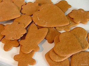 Some freshly baked gingerbread (or gingersnaps...