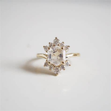 Moonstone Rosie Diamond Ring in 2019   Bohemian Weddings