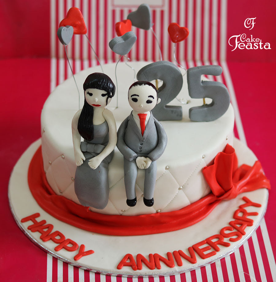 Couples Anniversary Cake Fondant Cakes In Lahore Free Delivery
