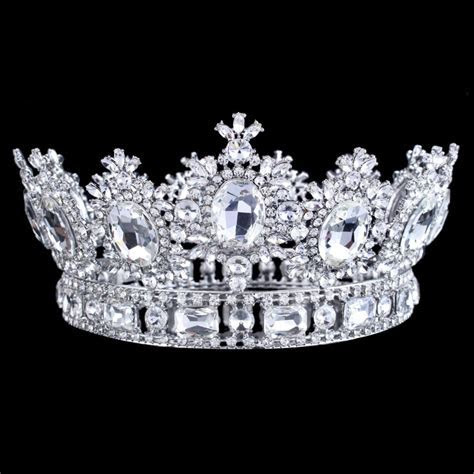 "3.8"" Height King Queen Big Top Crystal Rhinestone Wedding"