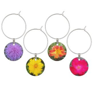 Bottle Blossoms Wine Glass Charms