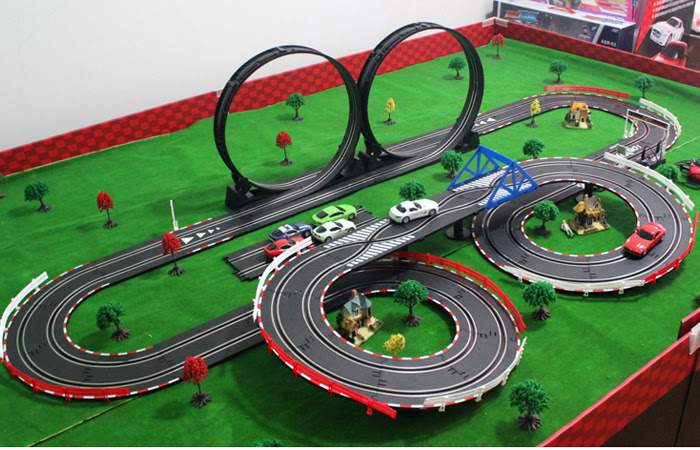 Slot car racing sets