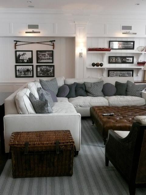 Light Gray Sectional Sofa - Cottage - living room - Giannetti Home
