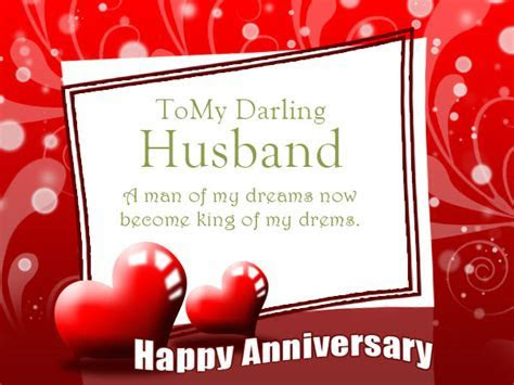 First Wedding Happy Anniversary Wishes for Husband Images