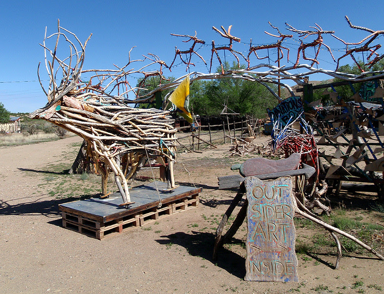This art studio was close to Madrid, New Mexico.