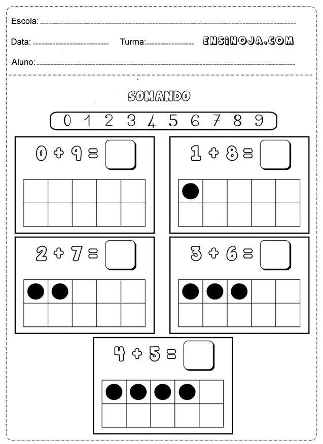 Atividades De Matematica 1 Ano Imprimir Ensino Ja