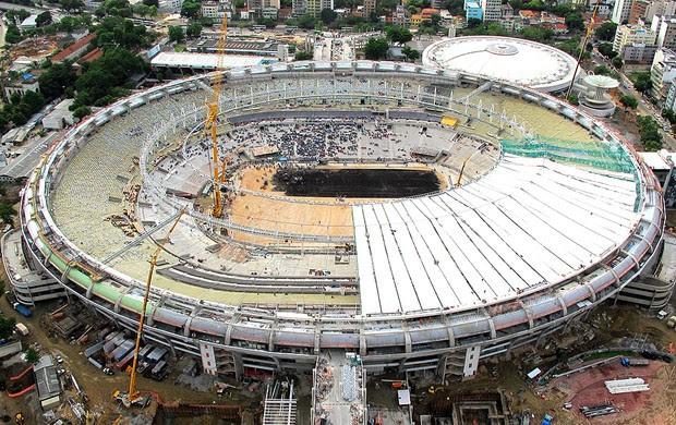 obras no Maracnã  Copa 2014  (Foto: Genílson Araújo / Agência O Globo)