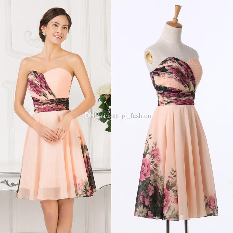 2016 new summer beach wedding chiffon bridesmaid dresses