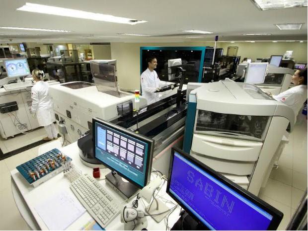 Laboratório de pesquisa em biologia molecular do Sabin, em Brasília (Foto: Sabin/Divulgação)