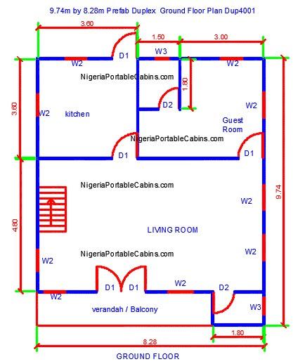 Duplex House Plans Nigeria - Free Duplex Floor Plans. Free ...