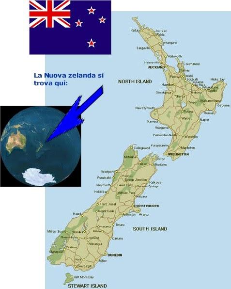 Cartina Geografica Della Nuova Zelanda.Io E La Nuova Zelanda Dov E La Nuova Zelanda