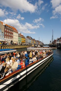 The canal tour boats, here seen docking in Nyhavn, are an excellent way to see many of the city's attractions