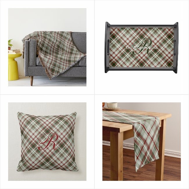 Seriously Plaid Home Decor Collection from katzdzynes