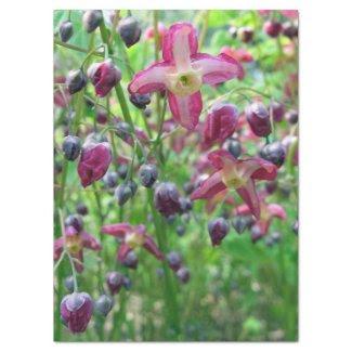 """Epimedium Flowers Tissue Paper 17"""" X 23"""" Tissue Paper"""