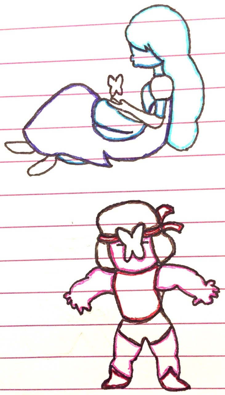 I sketched Ruby and Sapphire today!