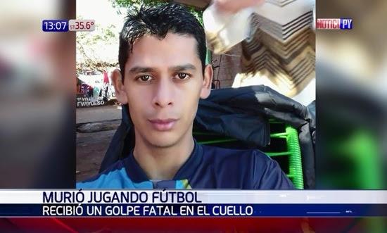 Resultado de imagen para Encarnación: Murió tras recibir una patada en el cuello durante partido de fútbol