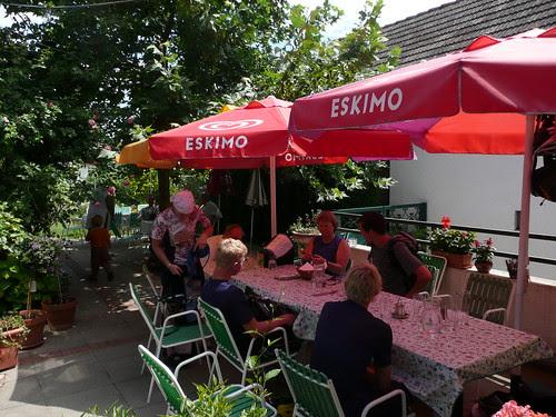 Pamhagen - the back garden where we ate lunch