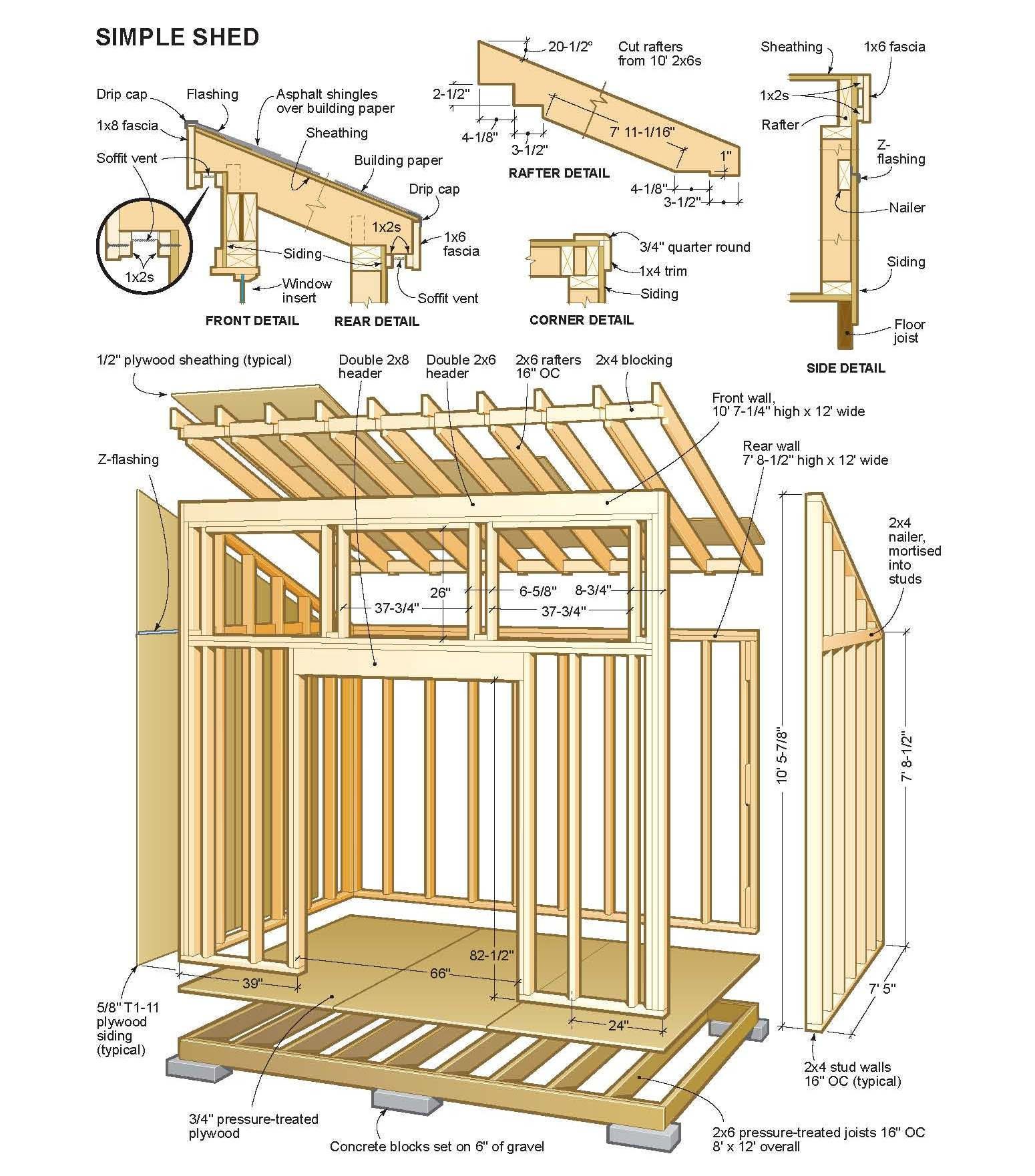 10x10 Lean To Shed Plans Free Free Amish Shed Plans