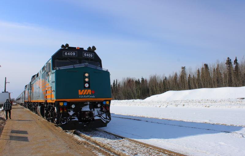 VIA 6409 in Thompson Manitoba