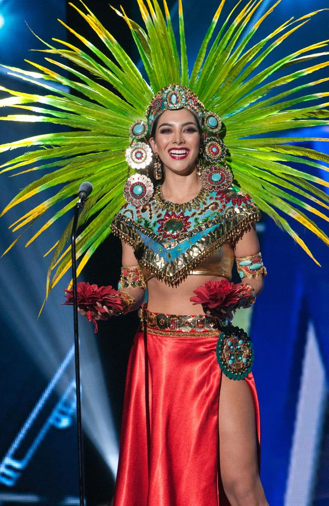 Wendy Esparza, Miss Mexico 2015 debuts her National Costume on stage at the 2015 Miss Universe Pagaent on December 16, 2015 in Las Vegas. Picture: HO/The Miss Universe Organization