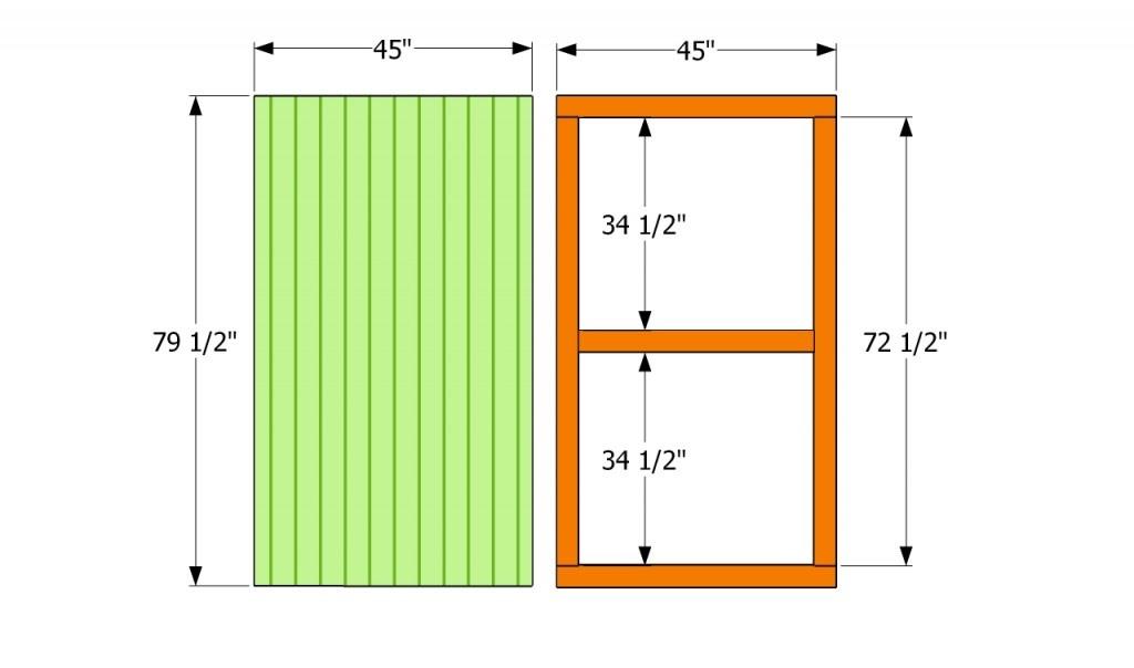 Shedaria Buy Build A Shed Door Plywood