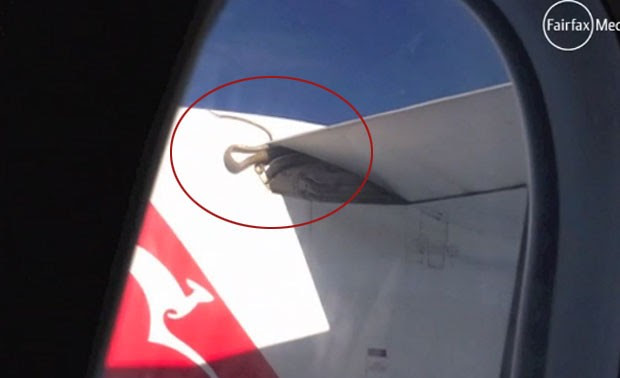 Cobra foi filmada em asa de avião da Qantas (Foto: Reprodução)