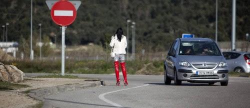 mulher botas