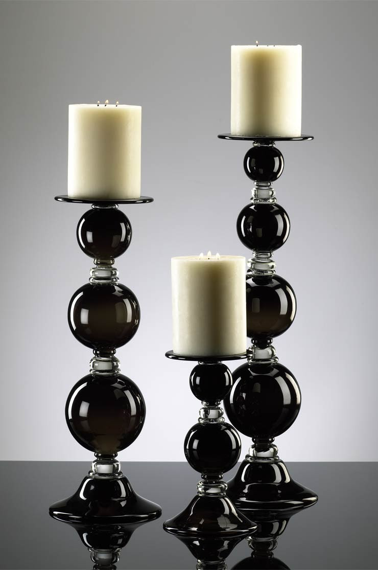 Black Globe Large Candle Holder from Cyan Design (2179 ...