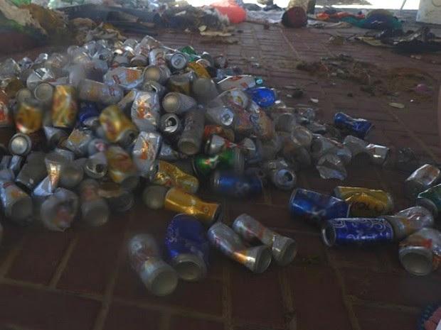 Parte do lixo recolhido pelo projeto (Foto: Bruno Rocha/Acervo pessoal)