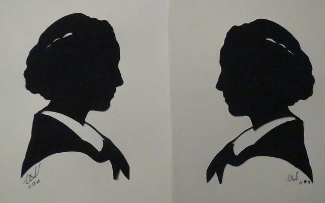 my oldest daughter  silhouette I cut