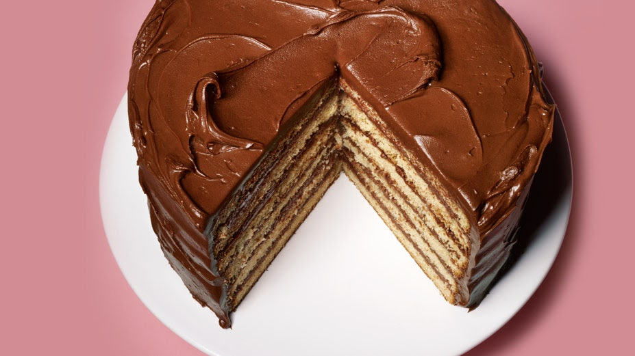 Yellow Layer Cake with Chocolate-Sour Cream Frosting | Bon ...