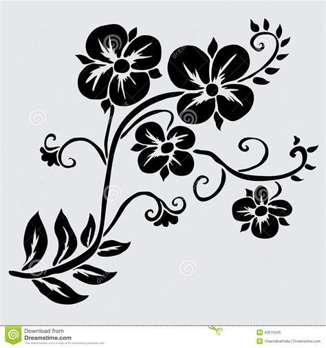 Floral Decoration Stock Vector   Image: 42075045