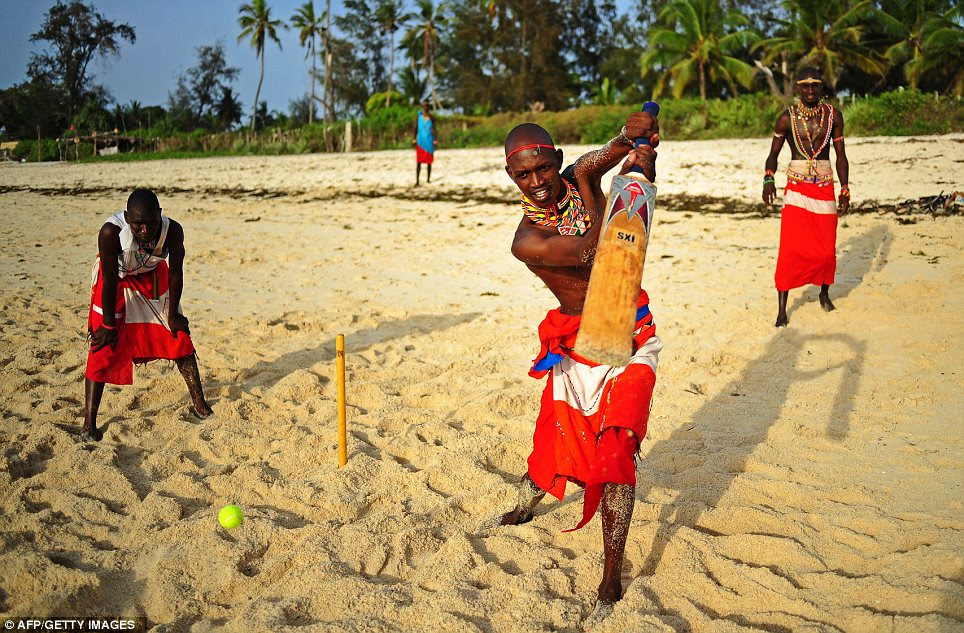 Beach time: The players are aiming to be role models in their communities where they are actively campaigning against Female Genital Mutilation, early childhood marriages and are fighting for the rights of women